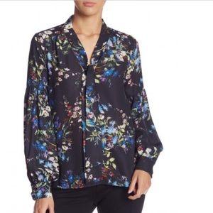 Parker: Women's Polyester Blouse Black Floral